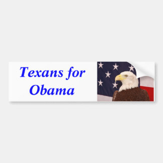 Texans for Obama Bumper Sticker 2012