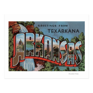 Texarkana, Arkansas (Waterfall Scene) Postcard