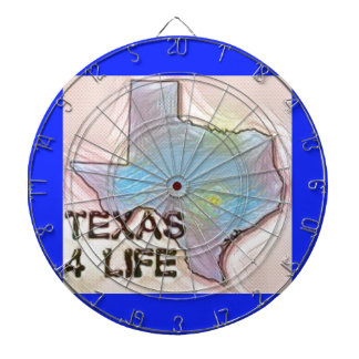 """Texas 4 Life"" State Map Pride Design Dartboard"