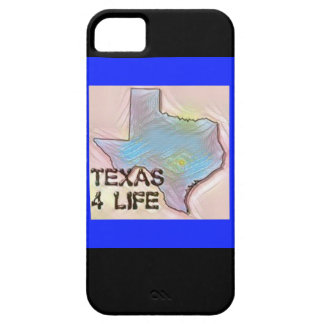 """Texas 4 Life"" State Map Pride Design iPhone 5 Case"