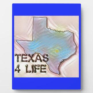 """Texas 4 Life"" State Map Pride Design Plaque"