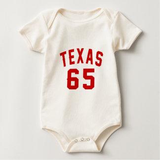 Texas 65 Birthday Designs Baby Bodysuit