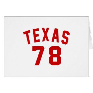 Texas 78 Birthday Designs Card