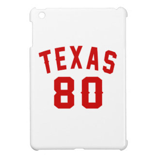 Texas 80 Birthday Designs iPad Mini Cases