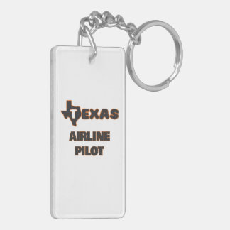 Texas Airline Pilot Double-Sided Rectangular Acrylic Key Ring
