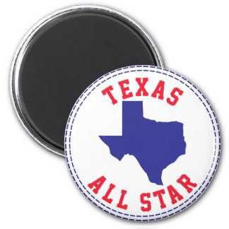 Texas All Star 6 Cm Round Magnet