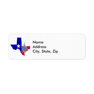 Texas and Bluebonnets Return Address Label