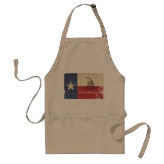 Texas and Gadsden Flag Standard Apron