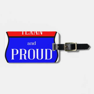 Texas And Proud Luggage Tag