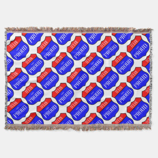 Texas And Proud Throw Blanket