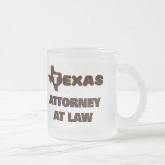 Texas Attorney At Law Frosted Glass Mug