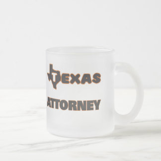 Texas Attorney Frosted Glass Mug