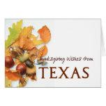 Texas autumn leaves thanksgiving greeting card