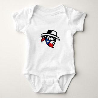 Texas Bandit Cowboy Side Retro Baby Bodysuit