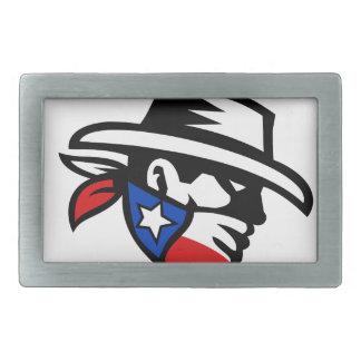 Texas Bandit Cowboy Side Retro Belt Buckle