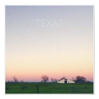 Texas Barn at Sunset Card
