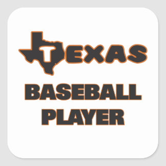 Texas Baseball Player Square Sticker