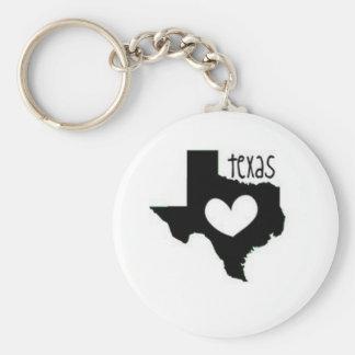 texas basic round button key ring