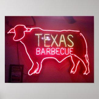 """Texas BBQ"" Poster"