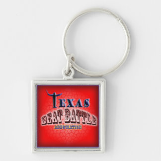 Texas Beat Battle Association Silver-Colored Square Key Ring