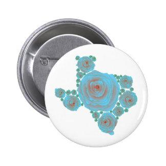 Texas Blue Rose Pinback Buttons