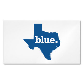TEXAS BLUE STATE MAGNETIC BUSINESS CARDS