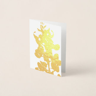 Texas Bluebonnet Gold Foil Mini Card