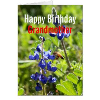 Texas Bluebonnet Grandmother Happy Birthday Card