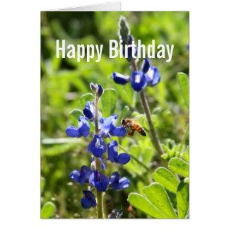 Texas Bluebonnet Happy Birthday Greeting Cards