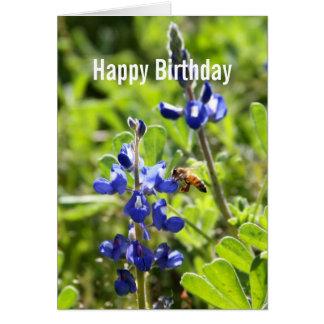 Texas Bluebonnet Happy Birthday Greeting Card
