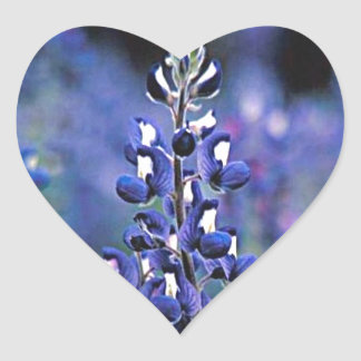 Texas Bluebonnet Heart Sticker