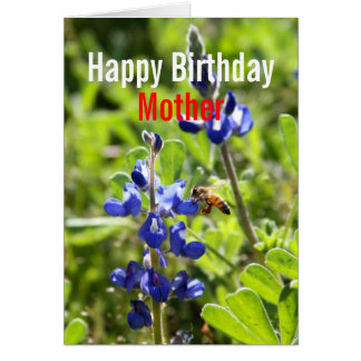 Texas Bluebonnet Mother Happy Birthday Card