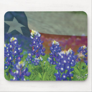 Texas bluebonnet mouse pad