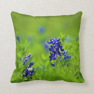 Texas Bluebonnet Pillow Throw Cushions