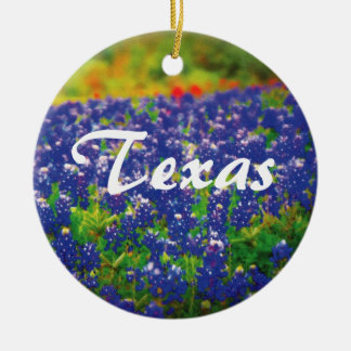 Texas Bluebonnets Ceramic Ornament