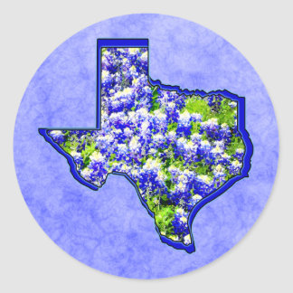 TEXAS BLUEBONNETS CLASSIC ROUND STICKER