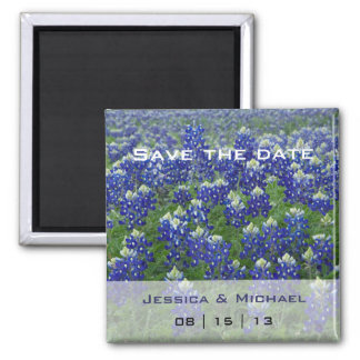 Texas Bluebonnets Flo Wedding Save the Date Magnet