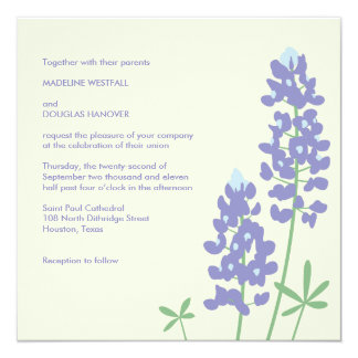 Texas BlueBonnets Invitation
