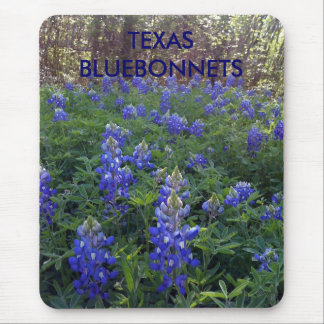 TEXAS BLUEBONNETS MOUSE PAD