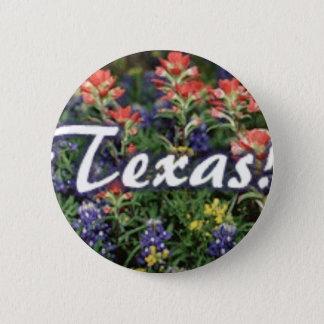 Texas Bluebonnets Paintbrushes 6 Cm Round Badge