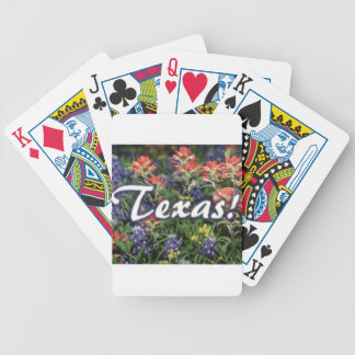 Texas Bluebonnets Paintbrushes Bicycle Playing Cards