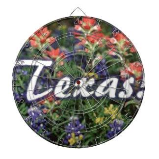 Texas Bluebonnets Paintbrushes Dartboard