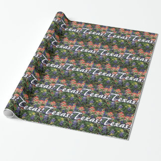 Texas Bluebonnets Paintbrushes Wrapping Paper