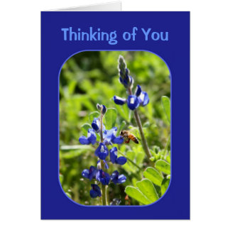 Texas Bluebonnets Thinking of You Card
