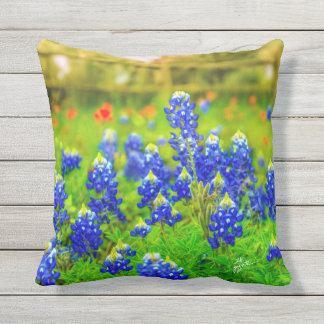 Texas Bluebonnets Throw Pillows