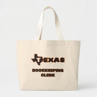 Texas Bookkeeping Clerk Jumbo Tote Bag
