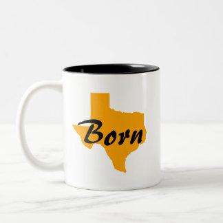 Texas Born, California Raised Two-Tone Coffee Mug