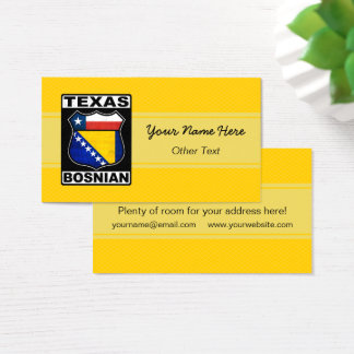 Texas Bosnian American Business Card Template
