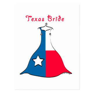 Texas Bride Postcard