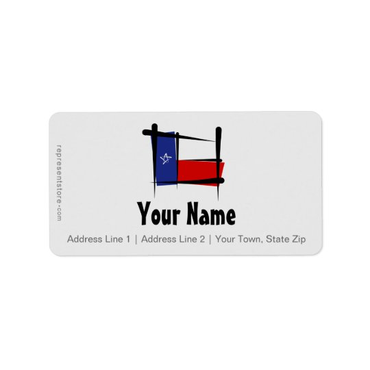 Texas Brush Flag Label